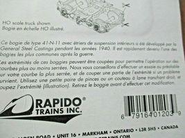 Rapido Trains Inc #102023 GSC 41-N-11 Inside Swinghanger Passenger Trucks (N) image 5