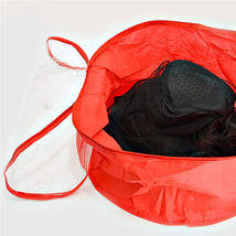 Medium Red Zip Around Loading Hat Bag Storage Bag Organizer - $23.50