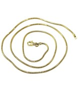 "SOLID 18K YELLOW GOLD CHAIN ROUND BOX SNAKE 1.5 mm, BRIGHT, 50cm, 20"" in... - $667.00"