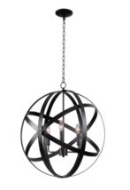 "Kenroy Home Global Three Light Pendant - Black Finish (93553BLK) - 26.5""... - $98.95"