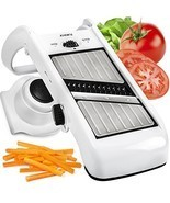 Adjustable Mandoline Slicer - Stainless Steel Vegetable Slicer & Mandoli... - $24.17 CAD
