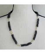 "Blue & White Beaded Necklace Twisted Multi Strand 24"" Magnetic Clasp Jew... - $19.99"