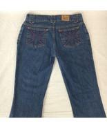 Paul Frank Womens Jeans Flare Medium Wash Low Rise Cotton Juniors Size 3x32 - $28.69