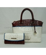 SET of Brahmin Duxbury Satchel/Shoulder Bag + Wallet in Daydream Montgomery - $489.00