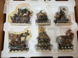 "Danbury Mint Boyds Bears Christmas Train ""Santa Bear"" 6-Car Set Mint in Box - $38.69"