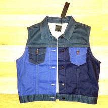 new JOE'S women jeans vest jacket blue L MSRP $119 - $32.99