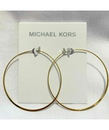 MICHAEL KORS Women's Yellow Gold Stainless Steel Earrings MKJ1167710 NEW - $34.75