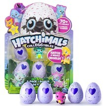 Hatchimals CollEGGtibles 4-Pack + Map + Bonus ( Styles & Colors May Vary ) - $14.64