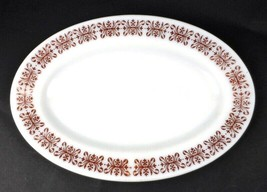 Anchor Hocking Anchorware 11.5 x 8 in Diner Plate #941 Milk Glass with R... - $9.89