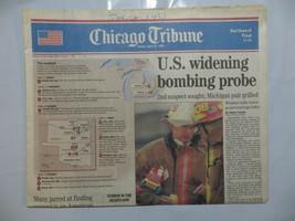 Chicago Tribune 1995 April 23 Terror in Oklahoma Bombing Timothy McVeigh GB - $39.99