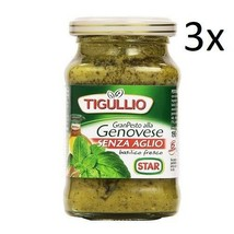 3x Star Tigullio Gran Pesto Pesto alla Genovese with Basil without Garlic 190g - $19.44