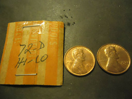 1972-D Lincoln Cents ** High & Low D Mark ** >> S & H + C/S - $1.49