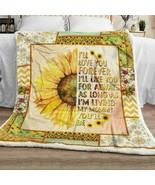 Sunflower I'll Love You Forever I'll Like You For Always Fleece Blanket ... - $49.84+