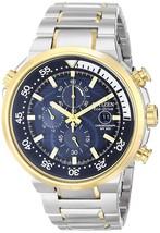 Citizen Men's Eco-Drive Two-Tone Endeavor Chronograph Watch CA0444-50L image 1