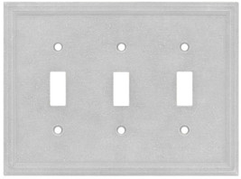 Somerset Collection Somerset 3-Gang Gray Triple Toggle Wall Plate - $23.42