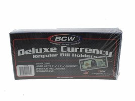 BCW Deluxe Currency Holder - Regular Bill, 50 pack - $13.49