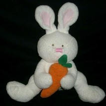 TY 2005 PLUFFIES SNACKERS BABY WHITE BUNNY RABBIT STUFFED ANIMAL PLUSH T... - $14.03