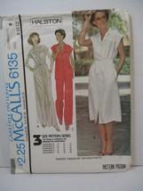 McCall's Pattern 6135 Miss Size 8-10-12 Dress Top Pants Halston Vintage ... - $10.88