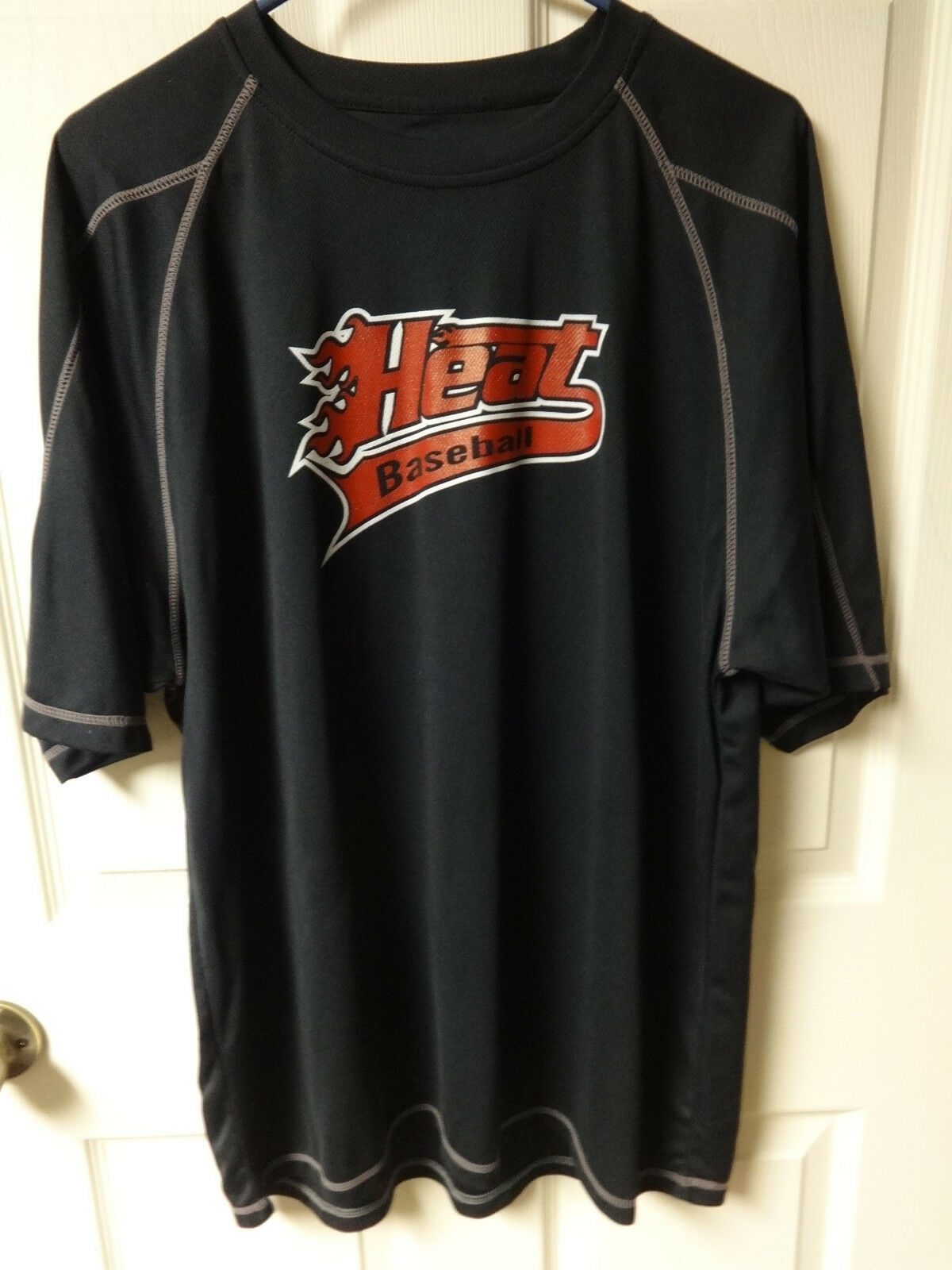 Primary image for Vintage Heat # 20 Baseball Req League Jersey Men XL by Champion Double Dry