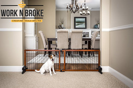 Carlson 68-Inch Wide Adjustable Freestanding Pet Gate, Premium Wood - $78.83
