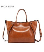 Leather Handbags Large Tote Bag Bolsas Femininas Casual Shoulder Smile Face - $37.48