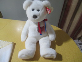 TY Beanie Buddies Collection Libearty White Bear 14 inch With Tags  - $25.98