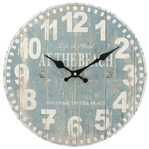 MDF At The Blue Beach Wall Clock; 45011 - $18.20