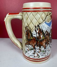 """Limited 1985 Edition Budweiser Beer Stein, """"A"""" Series, Clydesdale Horses... - $9.89"""