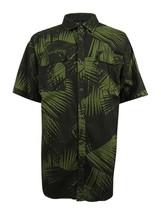 Sean John Men's Lightweight Palm-Print Linen Shirt, Black, Size Large - $24.74