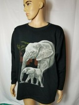 Rare Vintage WWF World Wildlife Fund Elephant Sweatshirt Elephants Adult... - $53.06
