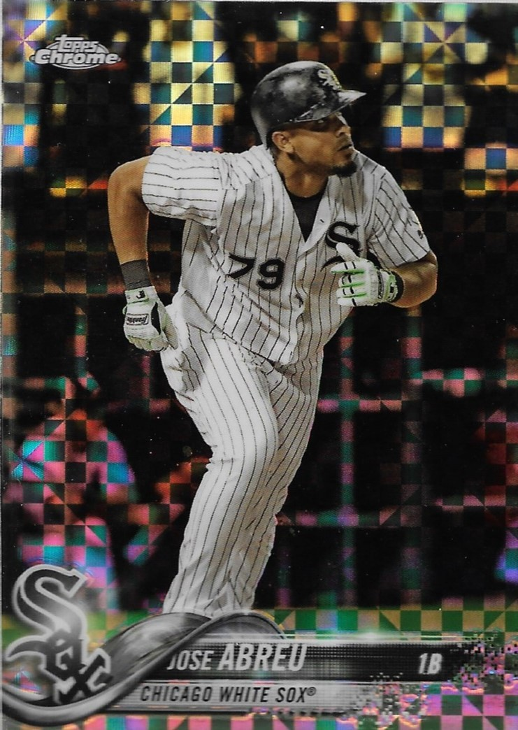 Primary image for Jose Abreu Topps Chrome 2018 #169 X-Fractor Chicago White Sox