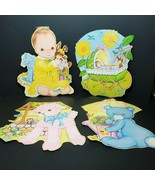 Vintage Baby Shower Gender Reveal Ephemera Cardboard Decorations 1997 Be... - $39.99