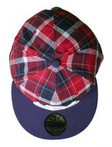 Dissizit Dx11 Bones Navy Red Plaid New Era 59FIFTY Fitted Baseball Hat Cap NWT image 6