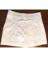 Aquascutum, Ladies kick-pleat Golf Skort in white, Size 12 - $30.74