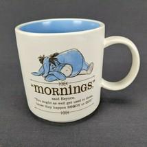 Hallmark Eeyore Mornings Coffee Mug Disney Winnie The Pooh Blue Interior - $19.20