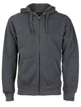 Men's Cotton Blend Zip Up Drawstring Fleece Lined Sport Gym Sweater Hoodie image 4