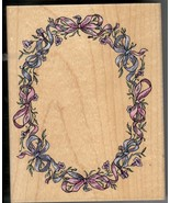 Stampendous Rubber Stamp R-044, Artistic Oval Ribbon Frame, Background,  S35 - $10.69