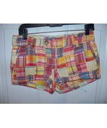 AMERICAN EAGLE SHORT SHORTS LOW RISE ALL COTTON MADRAS PATCHWORK SIZE 2 ... - $16.38