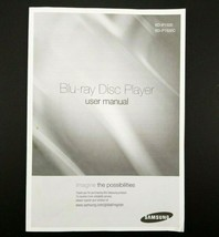 Samsung Blu-Ray Disc Player BD-P1500 & BD-P1500C Owners Manual - $9.85