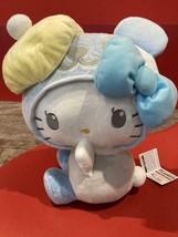 Hello Kitty Pastel Beret BIG Plush Doll Blue 35cm Furyu cute - $52.24