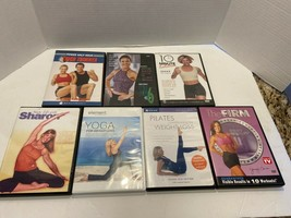 YOGA & PILATES for Weight Loss Fitness Exercise Kickboxing (DVD 7 Discs)... - $6.44