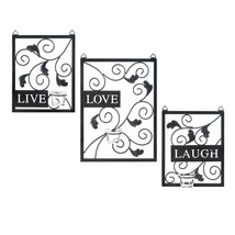 Decorative Metal Wall Art, Modern Iron Metal Wall Decor With Candle Holders - $68.99