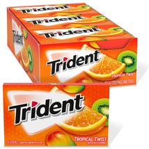 Trident Tropical Twist Sugar Free Gum - with Xylitol - 12 Packs (168 Pie... - $11.48