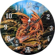 Pacific Giftware Dragons of Runnering Wall Clock by Alchemy Gothic Round Plate 1 - $19.99