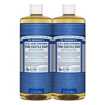 Dr. Bronner's - Pure-Castile Liquid Soap (Peppermint, 32 ounce, 2-Pack) ... - $48.51