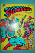 Vintage 1980 Superman Coloring Book by Whitman - $25.73