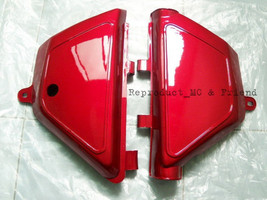 Suzuki TS100 TS125 DS100 (1978-1979) Side Cover L/R 1 Pair New - Red - $19.59