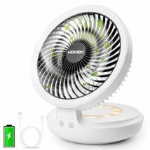 Hokeki Usb Desk Fan With Night Breathing Light, Air Circulator Desk Fan ... - $41.72