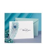 50 Peacock Feather Wedding Thank You Cards Thank you Notes - $487,12 MXN