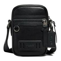 NWT COACH Terrain Crossbody Phone Bag Leather Black Antique Nickel F7296... - $128.00